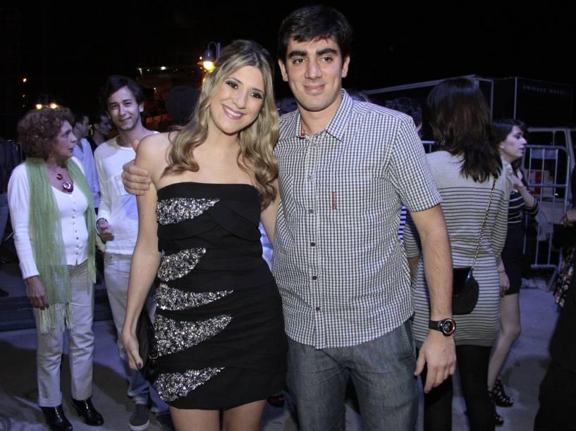 Dani Calabresa e Marcelo Adnet na festa de aniversário da MTV, no Píer Mauá, Rio de Janeiro - 2011