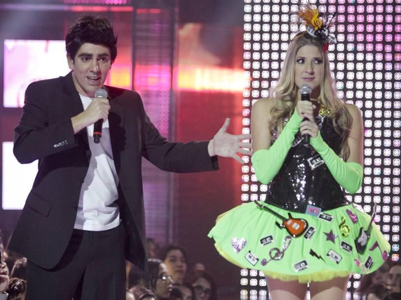 Marcelo Adnet e Dani Calabresa na Décima Sétima edição do Vídeo Music Brasil 2011