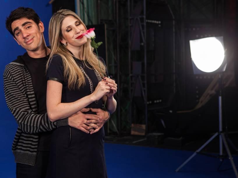 Dani Calabresa e Marcelo Adnet, durante ensaio fotográfico do Dia dos Namorados para a revista Contigo!
