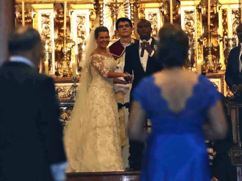 Thiaguinho e Fernanda Souza se casam na Casa Fasano, em Jardins, zona Oeste de São Paulo