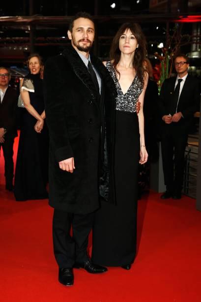 Os atores James Franco e Charlotte Gainsbourg durante a 65ª edição do Festival Internacional de Cinema de Berlim