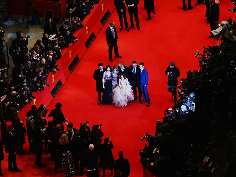Elenco do filme Every Thing Will Be Fine, lançado durante a 65ª edição do Festival Internacional de Cinema de Berlim