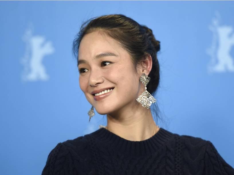 A atriz Zhou Yun durante a 65ª edição do Festival Internacional de Cinema de Berlim
