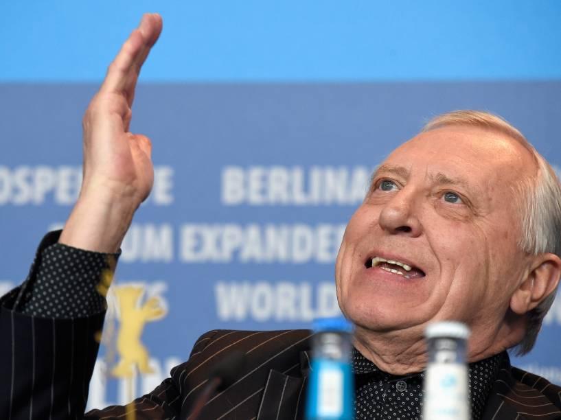 O diretor Peter Greenaway durante a 65ª edição do Festival Internacional de Cinema de Berlim