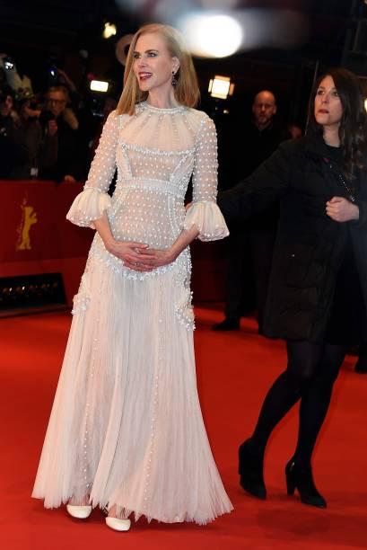 Nicole Kidman no lançamento do filme Queen of the Desert durante a 65ª edição do Festival Internacional de Cinema de Berlim
