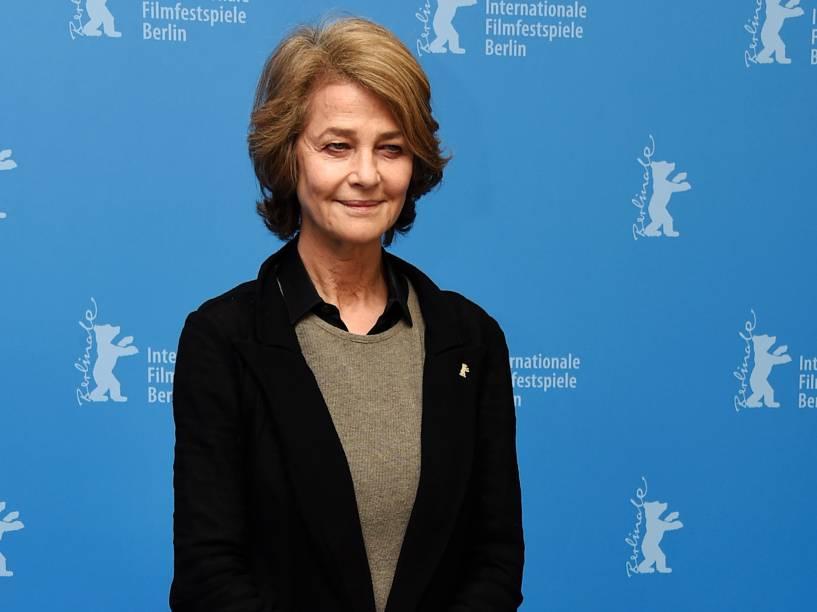 A atriz Charlotte Rampling durante a 65ª edição do Festival Internacional de Cinema de Berlim