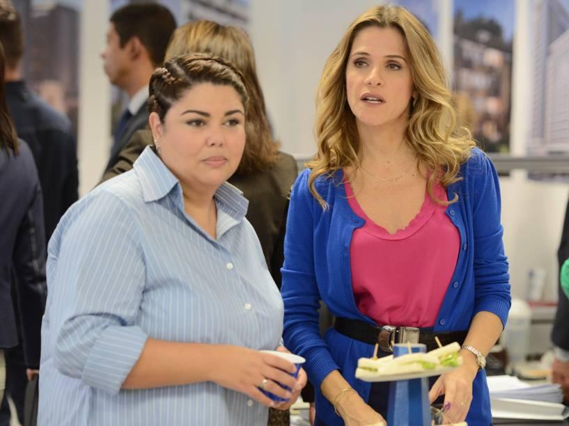 As atrizes Fabiana Karla e Ingrid Guimarães em cena do filme Loucas pra Casar