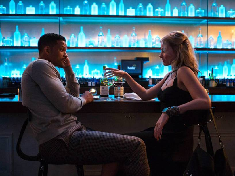 Will Smith e Margot Robbie no filme Golpe Duplo