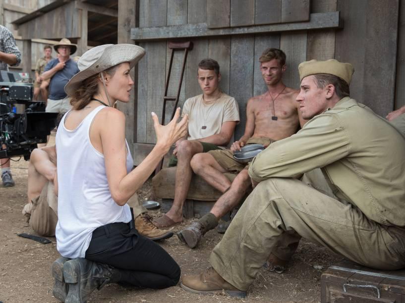 Bastidores do filme Invencível, produzido e digido pela atriz Angelina Jolie