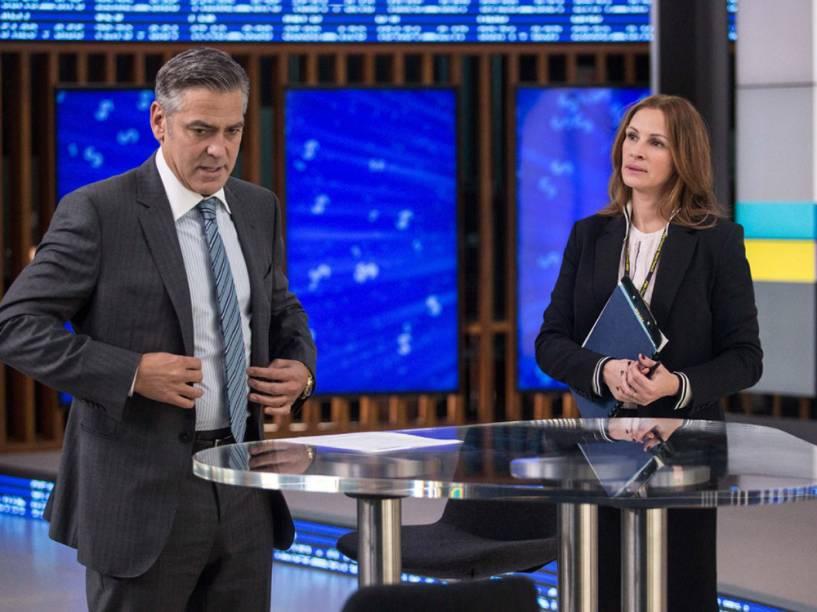 Julia Roberts e George Clooney, em cena do filme Jogo do Dinheiro