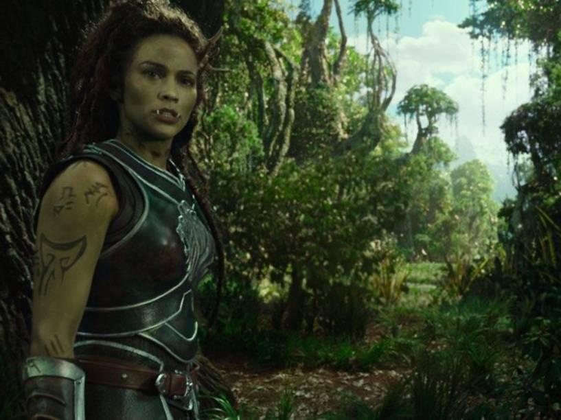 Garona (Paula Patton), em cena do filme Warcraft - O Primeiro Encontro de Dois Mundos