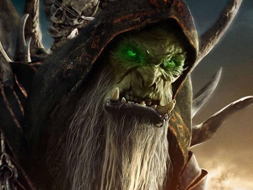 O vilão Gul'dan (Daniel Wu) no filme Warcraft - O Primeiro Encontro de Dois Mundos