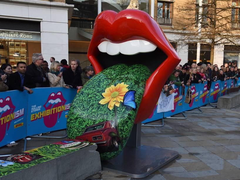Banda de rock Rolling Stones ganha exposição na galeria Saatchi, em Londres. A abertura foi no dia 4 de abril e ela vai até setembro de 2016