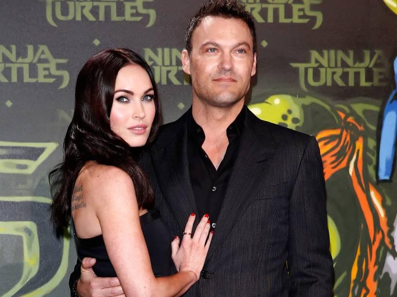 Megan Fox e o marido Brian Austin Green