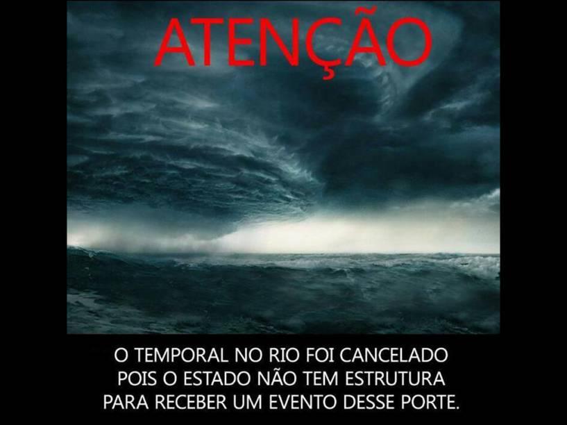 Memes se espalharam ironizando a previsão do ciclone que passaria pelo Rio de Janeiro