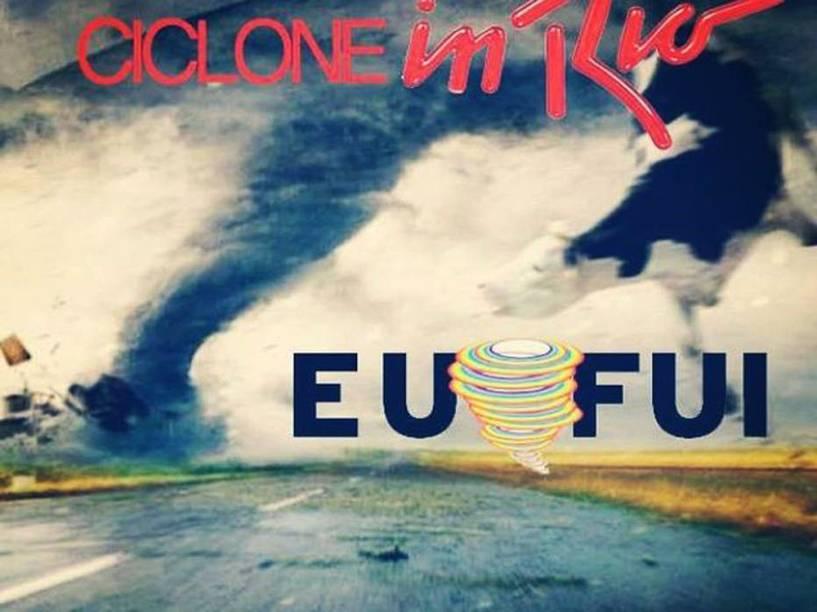 Foi criado, no Facebook, um evento para a chegada do ciclone que simula o Rock in Rio
