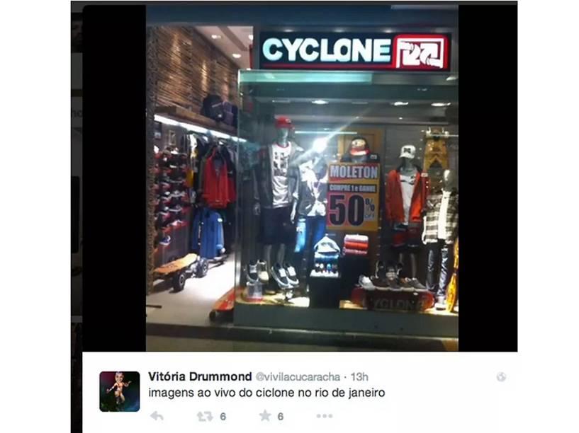 Memes ironizam a previsão da chegada de um ciclone no Rio de Janeiro