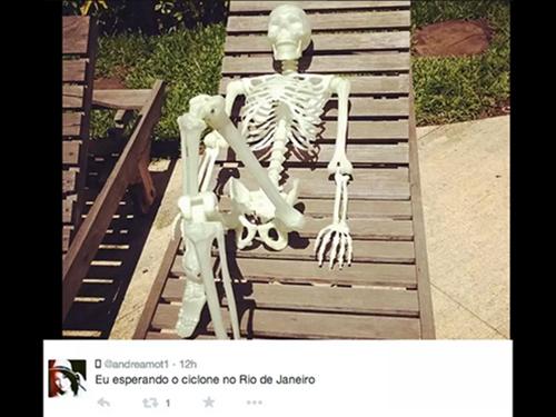 Previsão da chegada de um ciclone no Rio de Janeiro virou alvo de piadas na internet