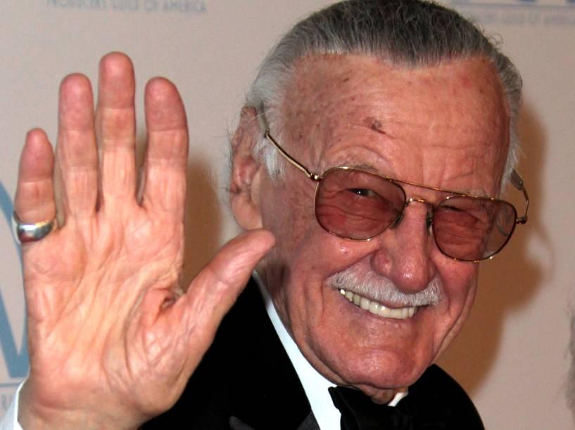 Stan Lee comparece à premiação Guild Awards, em Beverly Hills, 2012