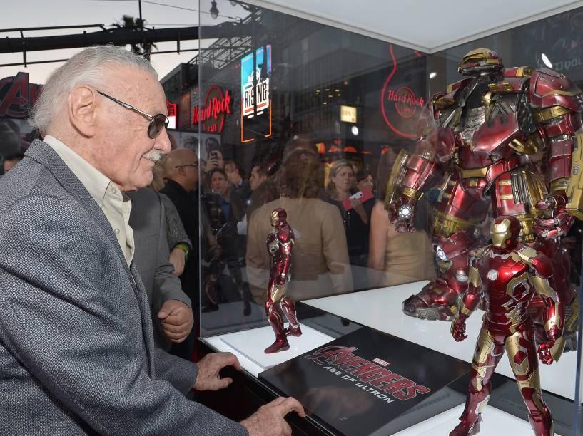 Stan Lee comparece à estreia de Homem de Ferro 3, no teatro El Capitan, em Los Angeles, Califórnia, em 2013