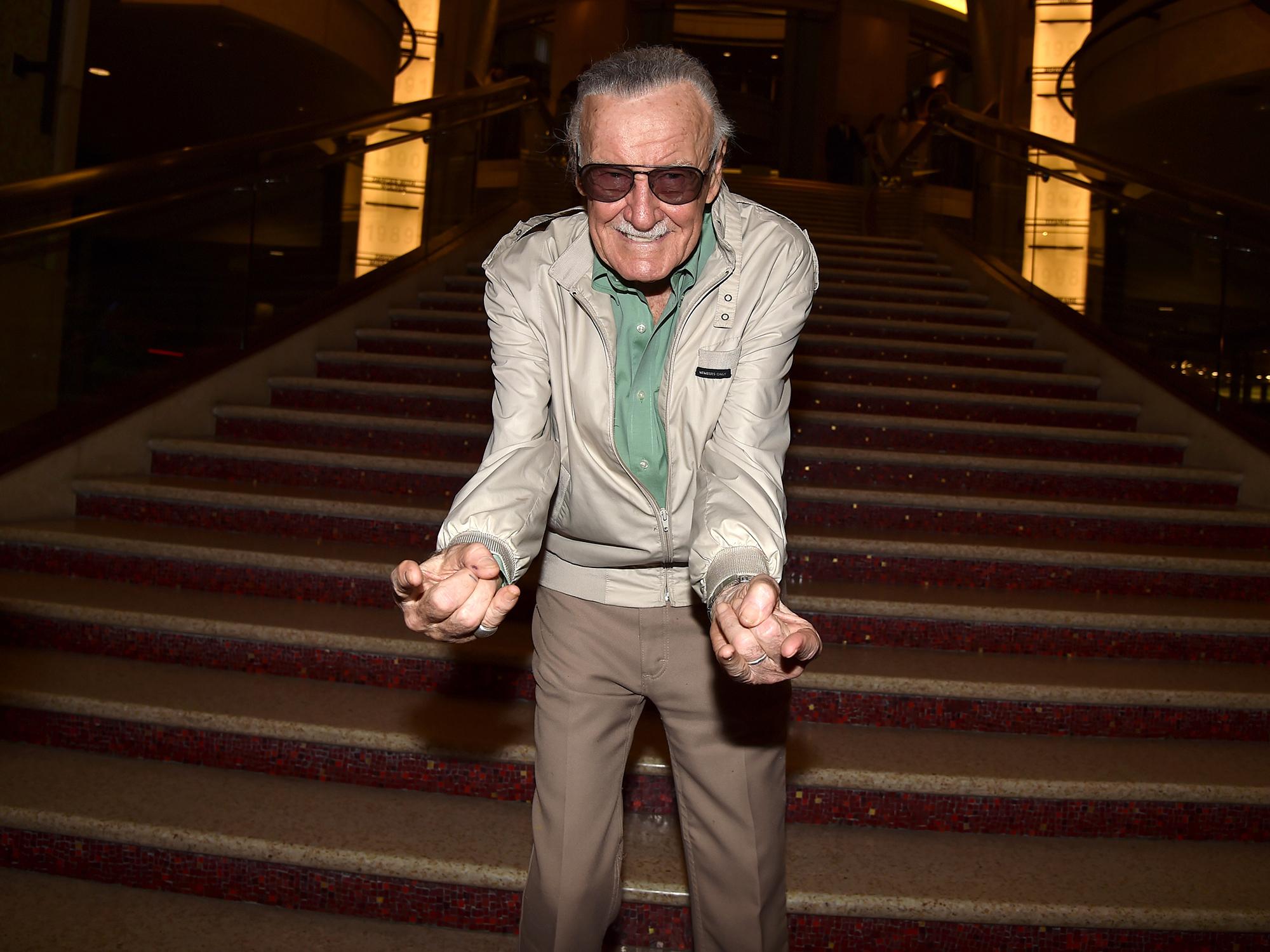 Stan Lee na estreia do filme Homem-Formiga