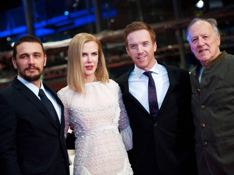 (E/D): Os atores James Franco, Nicole Kidman e Damian Lewis e o diretor Werner Herzog chegam para a exibição do filme A Rainha do Deserto no 65º Festival Internacional de Cinema de Berlim - 06/02/2015