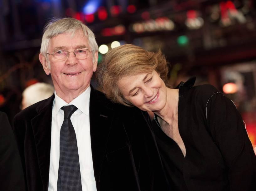 Tom Courtenay e Charlotte Rampling chega para a exibição do filme A Rainha do Deserto no 65º Festival Internacional de Cinema de Berlim - 06/02/2015