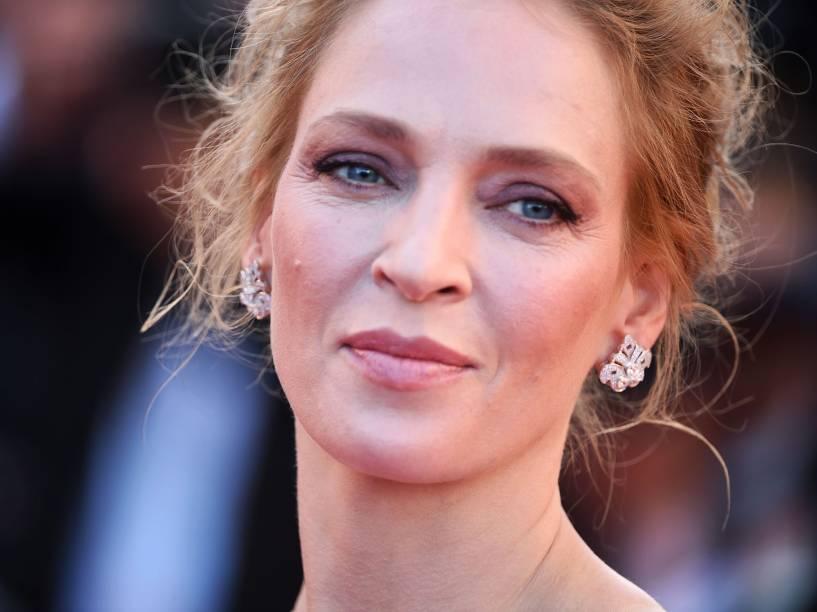 Uma Thurman durante o 67º Festival de Cannes, em Paris, em maio de 2014