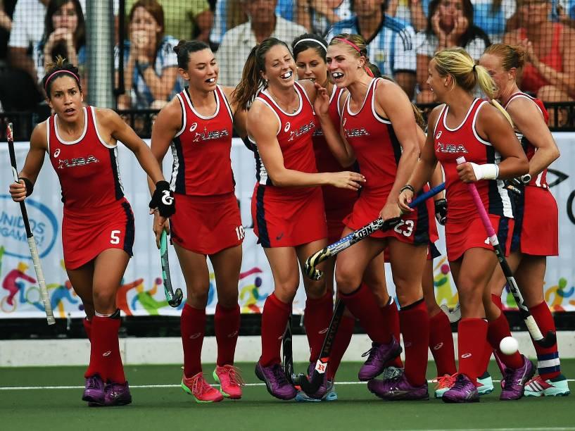 Norte-americanas derrotam as Leonas da Argentina na final do hóquei sobre grama e conquistam a medalha de ouro nos Jogos Pan-Americanos, em Toronto, Canadá