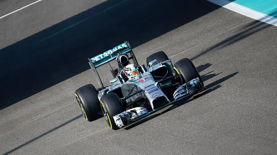 Nico Rosberg da Mercedes, durante treino livre para Grande Prêmio de Abu Dhabi