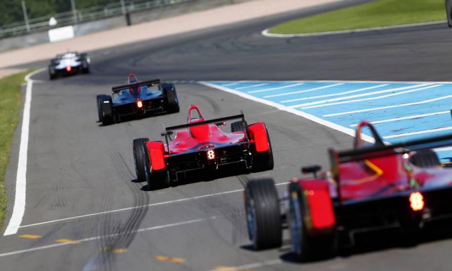 Testes da Formula E em Donington Park, no Reino Unido