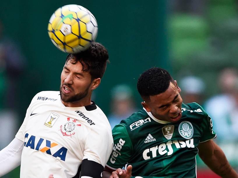 Partida entre Palmeiras e Corinthians, válida pela 7ª rodada do Campeonato Brasileiro, realizada em São Paulo (SP) - 12/06/2016