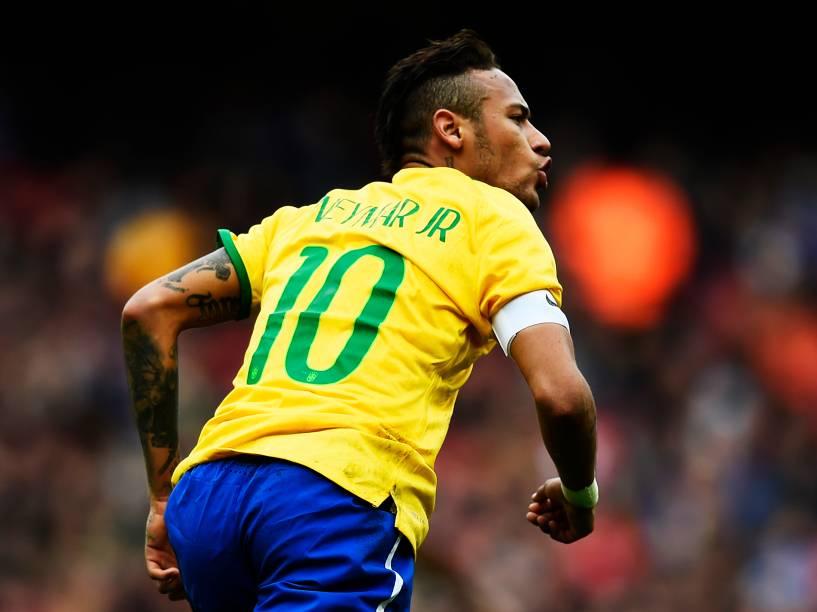 Neymar no amistoso contra o Chile