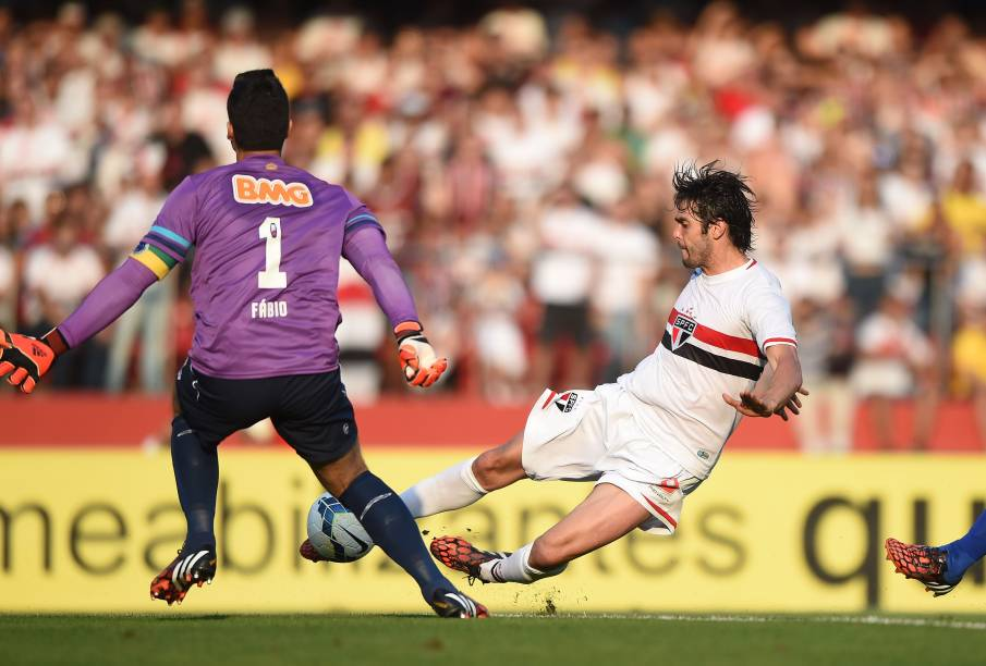 Kaká na partida contra o Cruzeiro no Morumbi - 14/09/2014