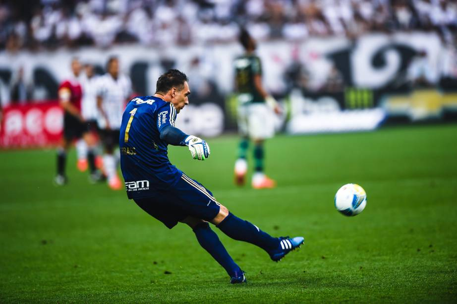 O goleiro do Palmeiras Fernando Prass