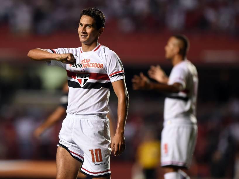 Paulo Henrique Ganso do São Paulo, na partida contra o San Lorenzo - 18/03/2015