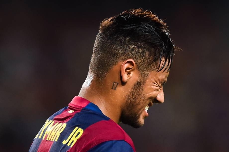Neymar na vitória do Barcelona sobre o Apoel no Camp Nou - 17/09/2014