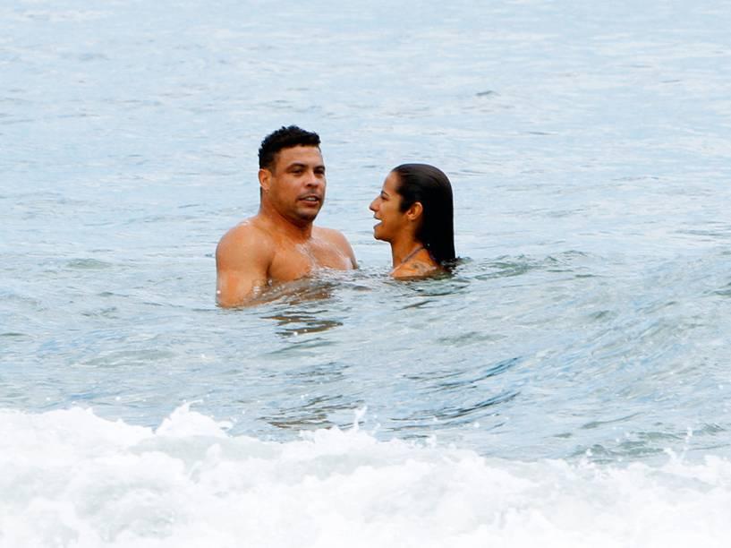 Ronaldo e Paula Morais, no Rio de Janeiro, em 2013