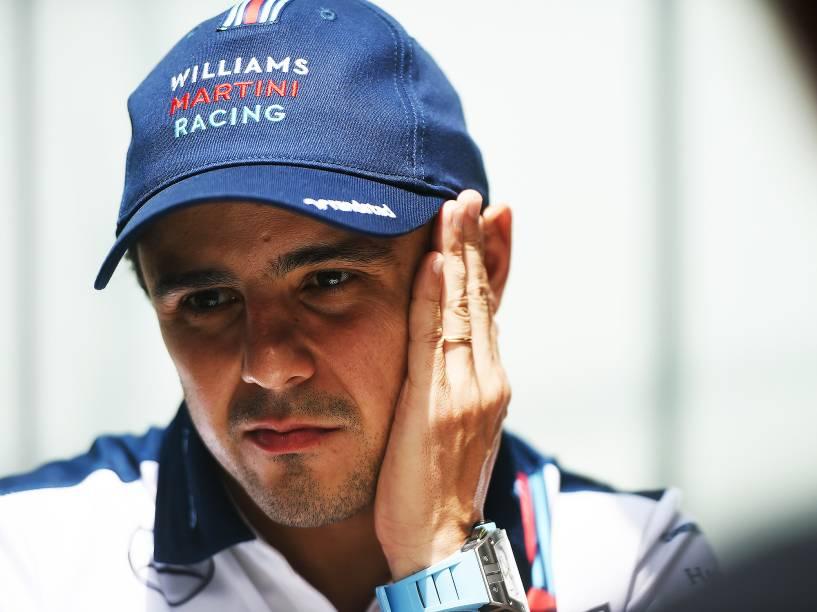 Felipe Massa durante o primeiro dia de preparação para o GP Brasil, em Interlagos, São Paulo