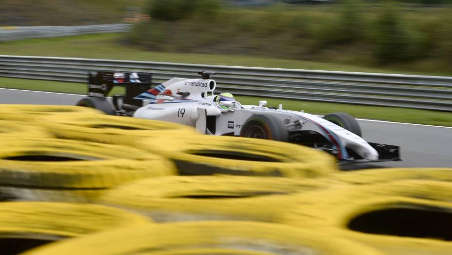 Felipe Massa durante o Grande Prémio da Bélgica de Fórmula 1, 12.ª prova do Campeonato do Mundo