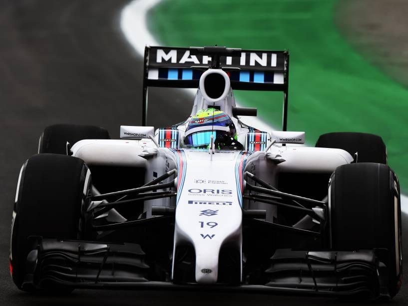 Felipe Massa conquistou o terceiro melhor tempo no treino de classificação para o Grande Prêmio do Brasil