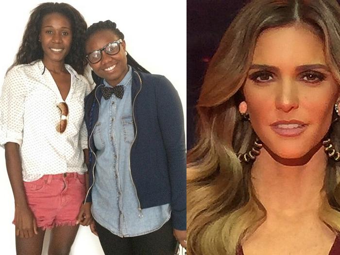 As babás dos filhos de Fernanda Lima, Angela Dias Santos e Tayane Dias. Mera publicação da imagem levou a apresentadora a ser acusada de racismo no Instagram