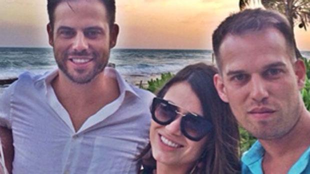 Os irmãos Luis Fernando e Dealberto com a amiga Marília Caputo, em Playa del Carmen