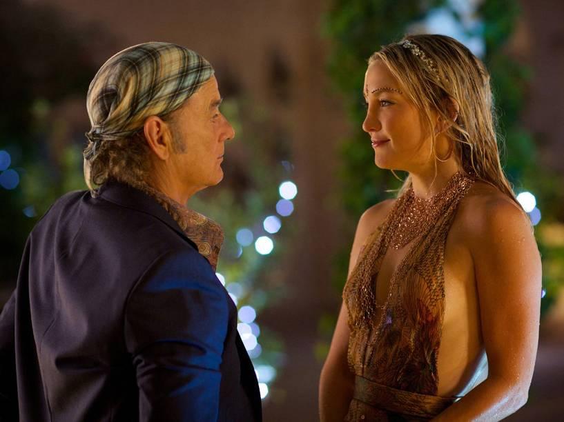 Richie Lanz (Bill Murray) e Merci (Kate Hudson) em cenas do filme Rock em Cabul