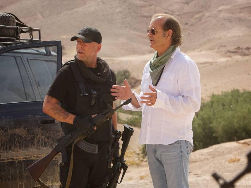 Richie Lanz (Billy Murray) e Brian (Bruce Willis) em cena do filme Rock em Cabul