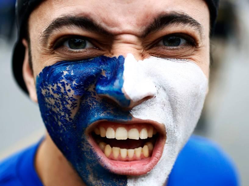 Torcida do Cruzeiro chega para o segundo jogo da final da Copa do Brasil, no Estádio Mineirão em Belo Horizonte