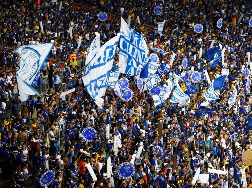 Torcida do Cruzeiro durante o segundo jogo da final da Copa do Brasil, no Estádio Mineirão em Belo Horizonte