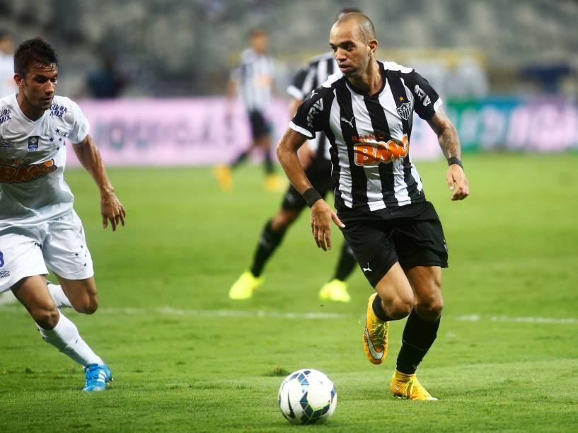 Jogador do Atlético-MG, Diego Tardelli durante segundo Jogo da final da Copa do Brasil, no Estádio Mineirão em Belo Horizonte<br>