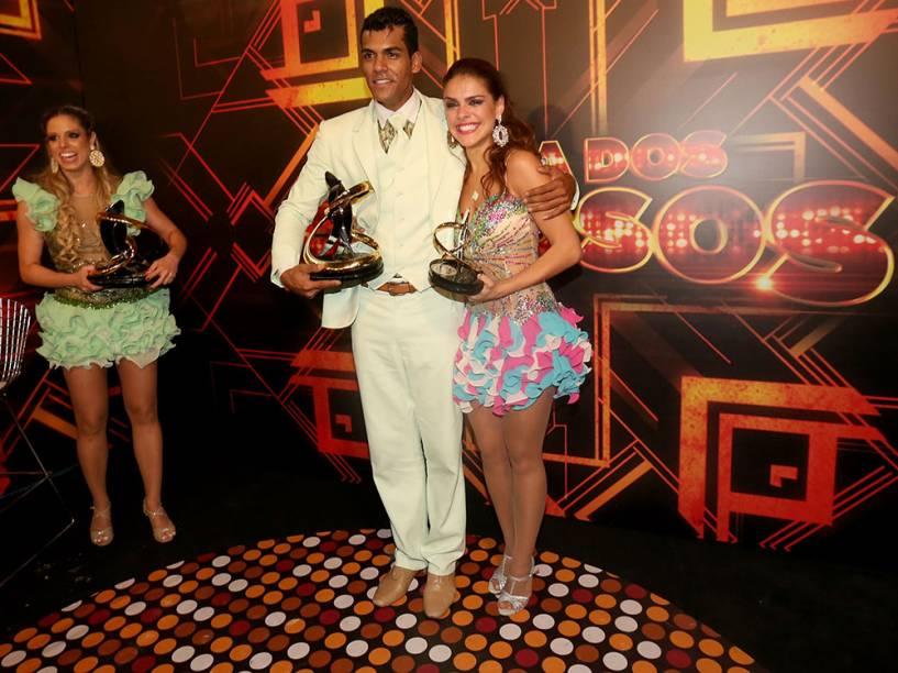 Raquel Guarini, Marcello Melo Jr. e Paloma Bernardi, finalistas da Dança dos Famosos 2014