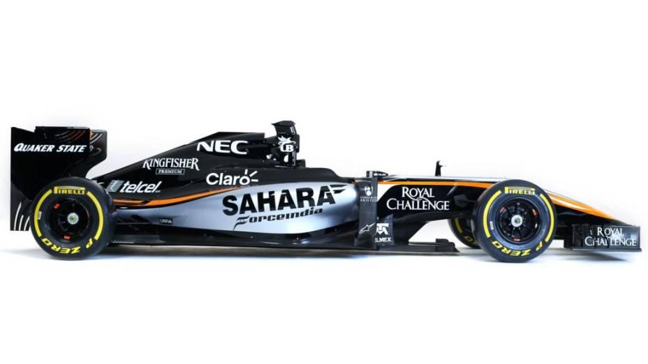 Carro da Force India, apresentado em evento realizado na Cidade do México